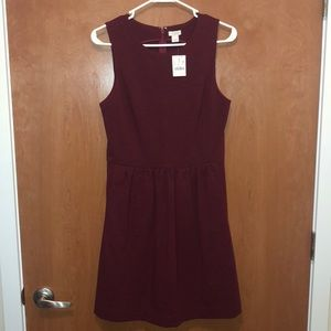 JCREW maroon dress